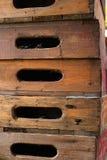 Oude houten doos stock afbeelding
