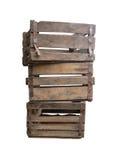 Oude houten dozen Royalty-vrije Stock Foto's