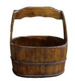 Oude houten emmer Royalty-vrije Stock Afbeeldingen