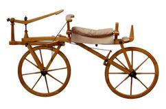 Oude houten fiets royalty-vrije stock fotografie
