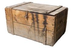 Oude houten geïsoleerde borst, royalty-vrije stock foto's