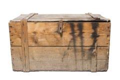 Oude houten geïsoleerde borst, stock foto's