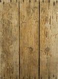 Oude houten genageld & door storm geteisterde raad Stock Afbeelding