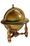 Oude houten globus Royalty-vrije Stock Afbeeldingen