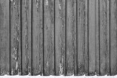 Oude houten grungeachtergrond Verticale raad Stock Foto's