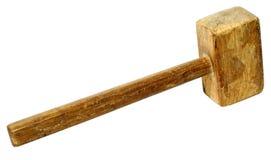Oude houten hamer Royalty-vrije Stock Afbeelding