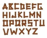 Oude Houten het Alfabetreeks van Grunge Royalty-vrije Stock Foto