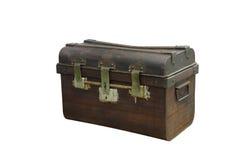 Oude houten het gevalboomstam van de borst royalty-vrije stock afbeeldingen