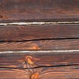 Oude houten huismuur Stock Afbeeldingen