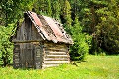 Oude houten hut Royalty-vrije Stock Afbeelding