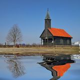 Oude houten kerk Royalty-vrije Stock Foto