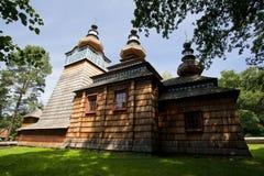 Oude houten kerk Stock Afbeeldingen