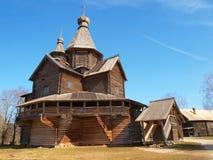 Oude houten kerk royalty-vrije stock foto's
