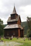 Oude houten kerk in Torpo stock fotografie