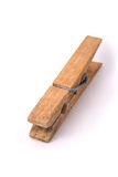 Oude houten klem Stock Foto's