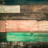 Oude houten kleurenachtergrond Royalty-vrije Stock Foto's