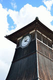 Oude houten klokketoren, in Izushi-stad Japan Stock Foto