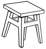 Oude houten kruk vector illustratie