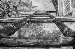 Oude Houten Ladder Royalty-vrije Stock Fotografie