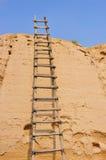 Oude houten ladder stock foto