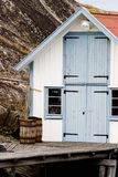Oude houten loods Stock Foto's