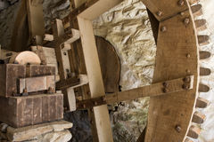 Oude houten machines Stock Foto