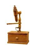 Oude houten microscoop Royalty-vrije Stock Foto