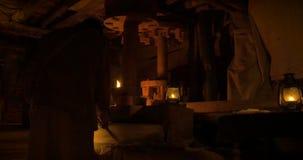 Oude houten molen stock video