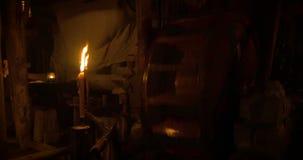 Oude houten molen stock footage