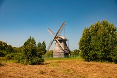 Oude houten molen royalty-vrije stock fotografie