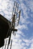 Oude houten molen in Suzdal (Rus Stock Afbeeldingen