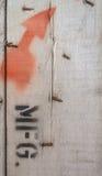 Oude houten muur royalty-vrije stock foto's