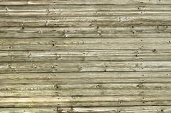 Oude houten muur van raad met spijkerkappen royalty-vrije stock fotografie