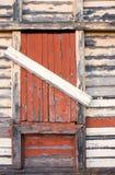 Oude houten muurachtergrond Stock Foto's
