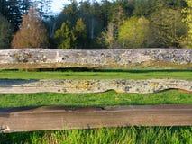 Oude houten omheining Royalty-vrije Stock Foto