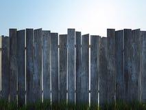 Oude houten omheining Stock Foto's