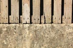 Oude houten omheining Royalty-vrije Stock Fotografie