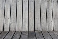 Oude houten omheiningsachtergrond Stock Foto's