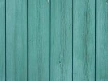 Oude houten oppervlakte met de overblijfselen van de groene verf royalty-vrije stock foto
