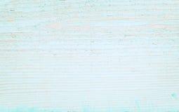 Oude houten oppervlakte met het pellen van blauwe verf Stock Foto