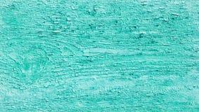 Oude houten oppervlaktetextuur met schil gebarsten turkooise verf stock foto's