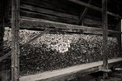 Oude houten opslag Stock Foto's