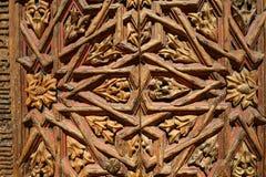 Oude houten ornamenten royalty-vrije stock foto