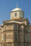 Oude houten orthodoxe kerk in Pobirka dichtbij Uman - de Oekraïne, Europ Royalty-vrije Stock Foto