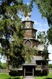 Oude houten orthodoxe kerk in Suzdal Stock Foto