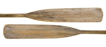 Oude houten peddels Stock Afbeeldingen