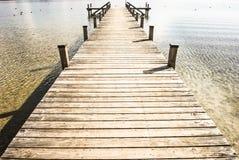 Oude houten pier royalty-vrije stock afbeelding