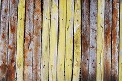 Oude houten piketomheining Royalty-vrije Stock Foto's