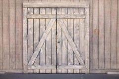 Oude houten poort Stock Fotografie