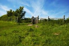 Oude houten poort Stock Afbeelding